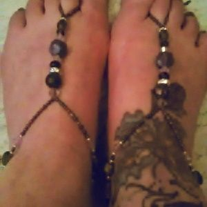 Jewelry - Beaded ankle toe bracelets